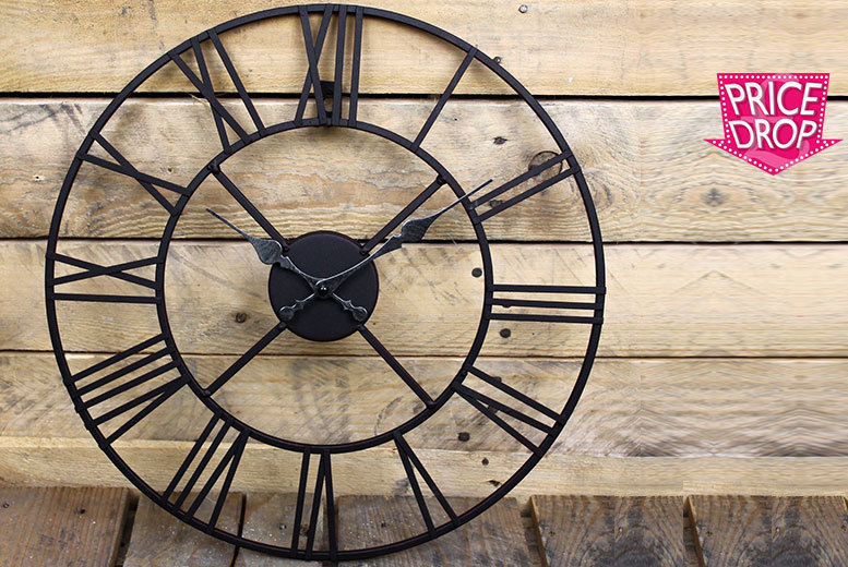 £16 instead £48.99 (from Funky Buys) for a 40cm metal Roman numeral clock or £24 for a 60cm clock - save up to 67%