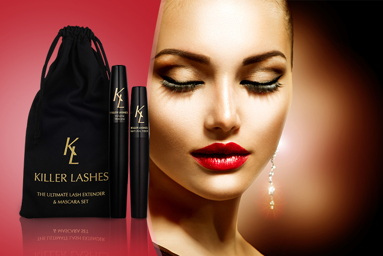 £8 instead of £29.99 (from Killer Lashes) for a mascara and brush-on 'fibre lash extender' set, £14 for two sets - save up to 73% + DELIVERY INCLUDED!