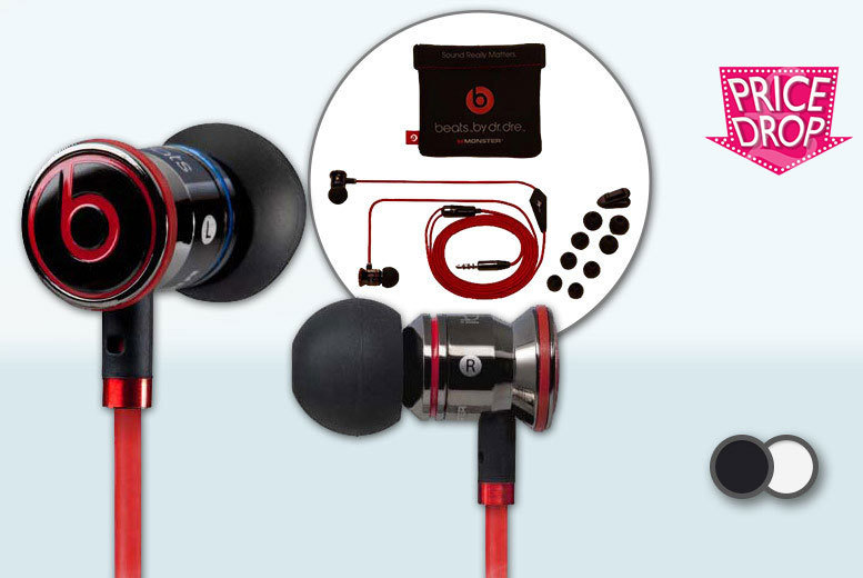 £24 instead of £79.99 (from SA Products) for a pair of Monster iBeats by Dr Dre in-ear headphones - choose black or white and save 70%