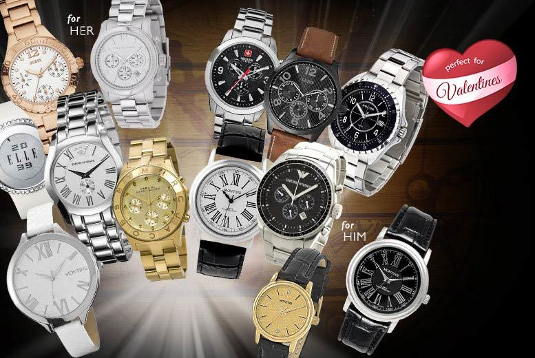 £10 for a Wowcher mystery watch for him or her - products include Marc Jacobs, Elle, Swiss Military, Emporio Armani, Jacques du Manoir, Montine and more!