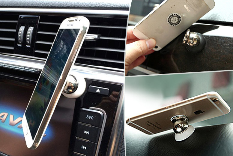 £4.98 instead of £14.99 for a magnetic 360-degree white phone mount - save 67%