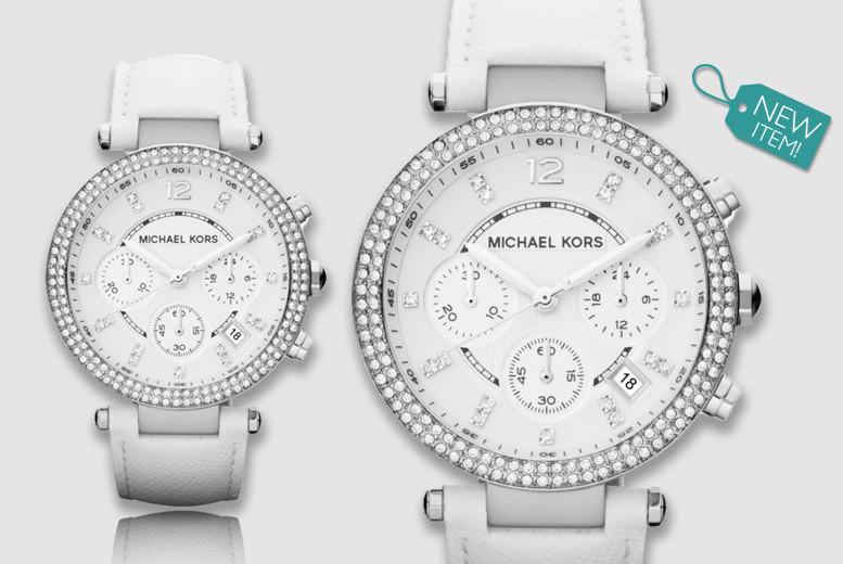 Ladies' Michael Kors Parker White MK2277 Chronograph Watch