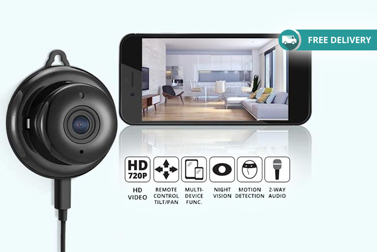 App Controlled Wi-Fi Home Security Camera for £27