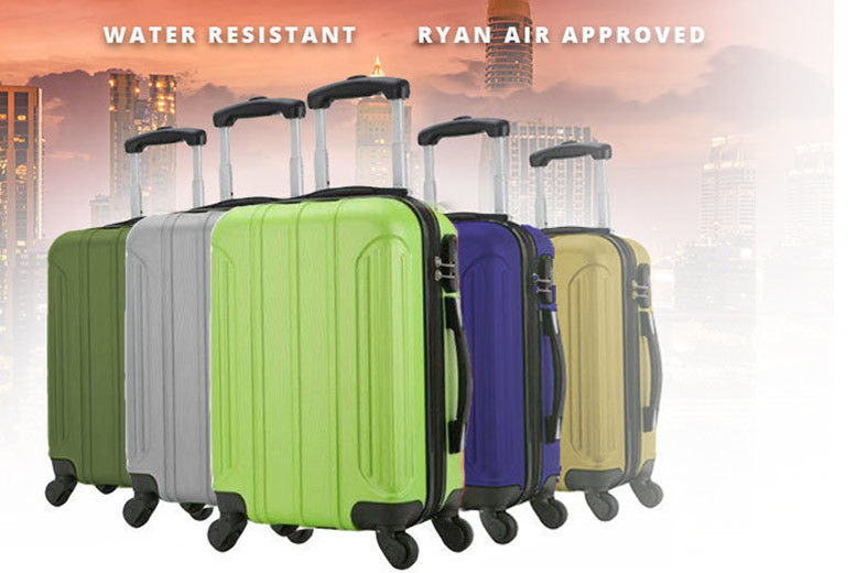 Holando Cabin Splash-Proof Suitcase – 5 Colours! for £19