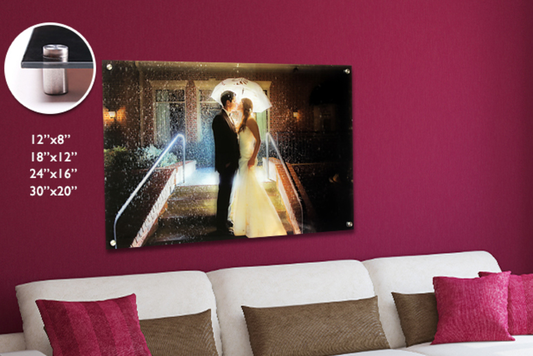 From £7.99 (from Your Perfect Canvas) for a personalised acrylic glass canvas in a range of sizes - add a unique touch to your home and save up to 80%