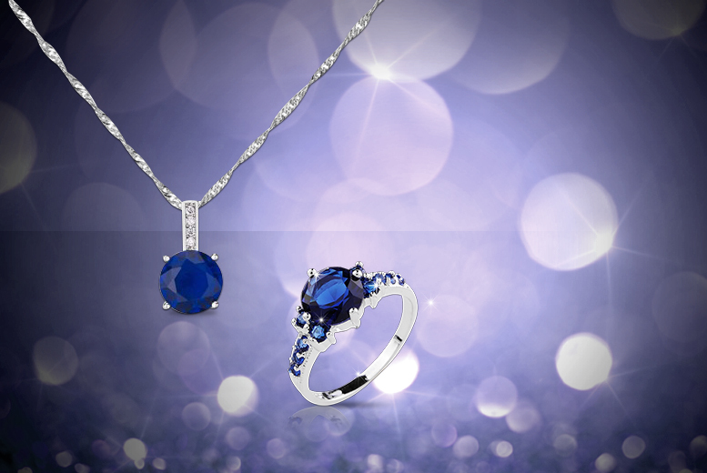 £49.99 instead of £549 (from Your Ideal Gift) for a five-carat brilliant cut blue sapphire pendant necklace and ring set - save 91%