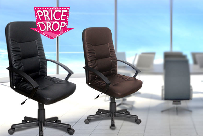 £59 instead of £199.99 (from FTA Furnishing) for an operator office chair, £74.99 for a luxury manager's chair - choose from brown or black designs and save up to 70%