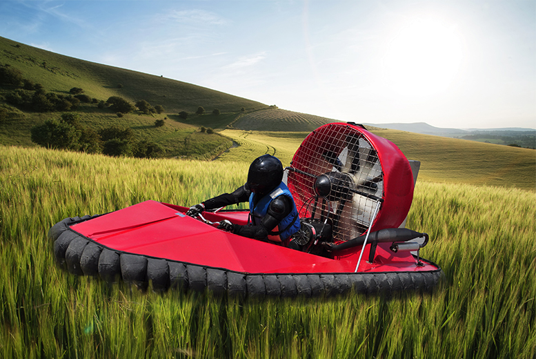From £29 for a five-lap hovercraft experience, or from £34 for ten laps at Hover Limits, Essex, Blyton Park or the Vale of Glamorgan - save up to 63%