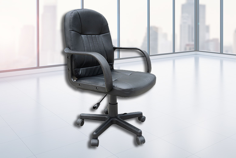 Leather Office Swivel Chair - 2 Colours!