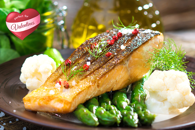 £39 instead of £83 for a four-course Valentine's dinner for two people including a glass of Fantinel Prosecco each at Pavilion Restaurant, Hilton East Midlands - save 53%
