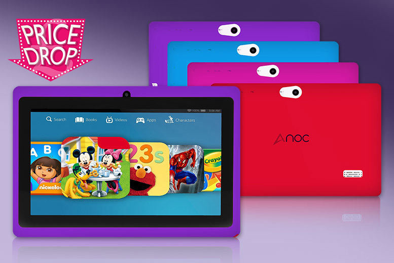 £25 instead of £109.99 (from D2D) for a seven-inch dual core touchscreen Android tablet for kids - choose from four colours and save 77%