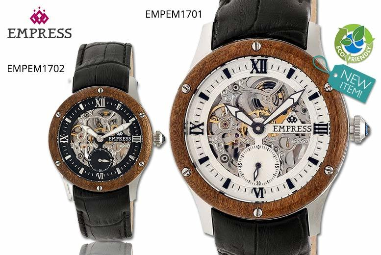 Ladies' Empress Wood-Bezel Watch - 5 Designs & Delivery Included!