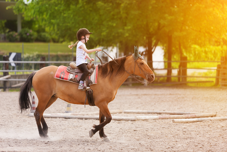 £6 instead of £13 for a kids' 30-minute horse riding lesson at Croft Riding Centre - get horsing around and save 54%