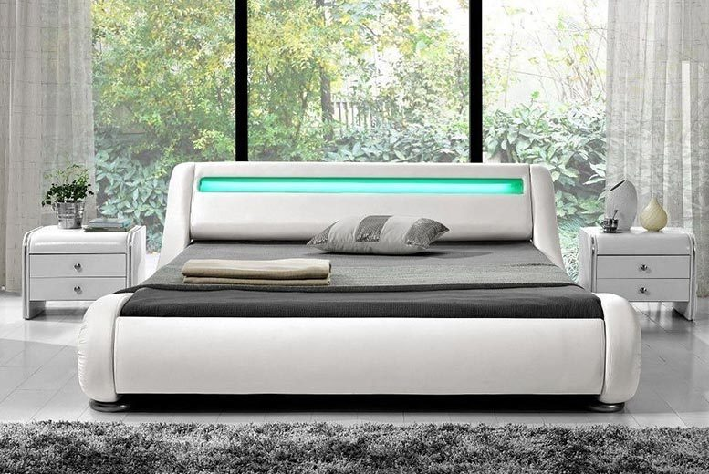 Rio LED Bed - 2 Sizes & 3 Colours!