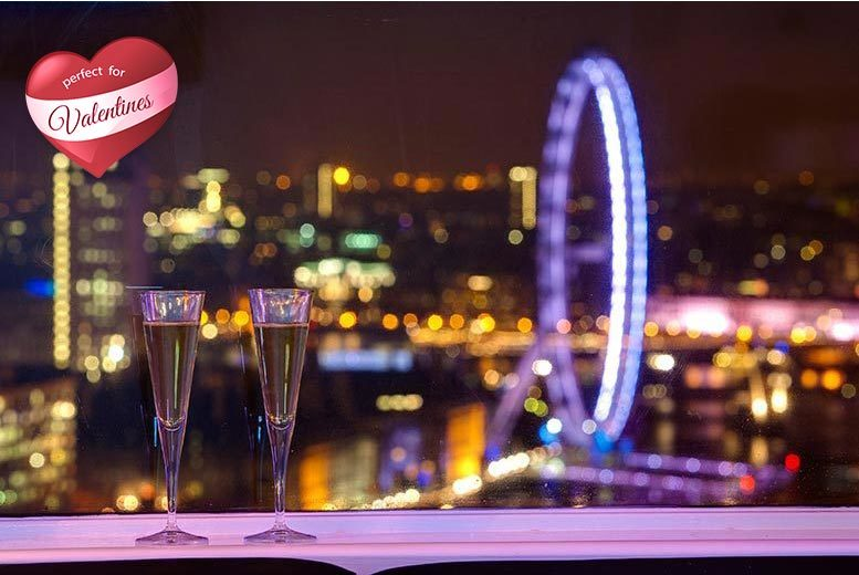 £175 instead of £350 for a four-course meal, Prosecco, Champagne, wine and movie screening for two people at #TheView @ Millbank Tower, Westminster - save 50%