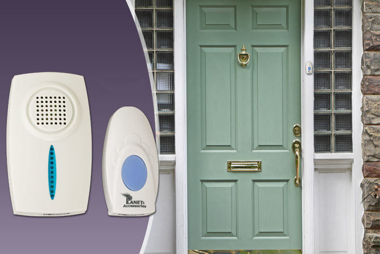 £4.99 instead of £24.99 (from Planet of Accessories) for a wireless doorbell - ensure you never miss a visitor and save 80%