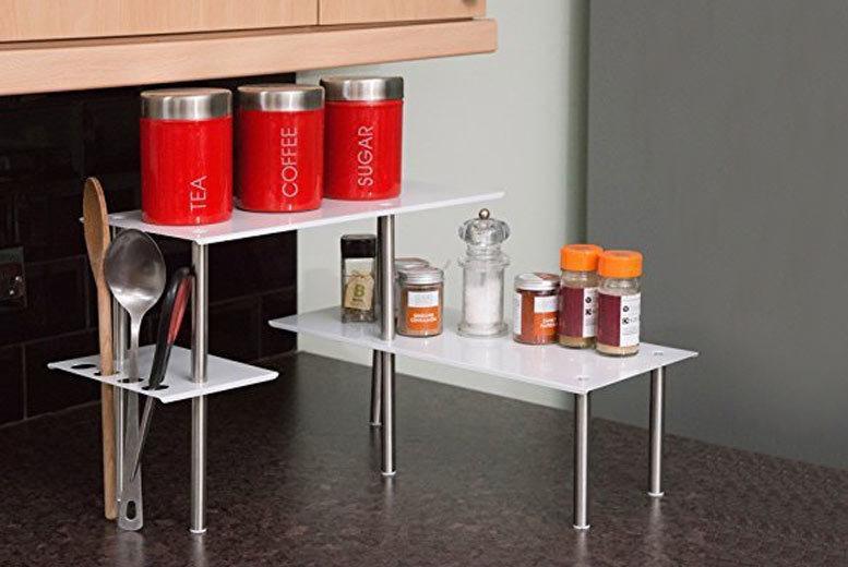 Image of £12.99 for a handy worktop corner shelf unit - save 57%