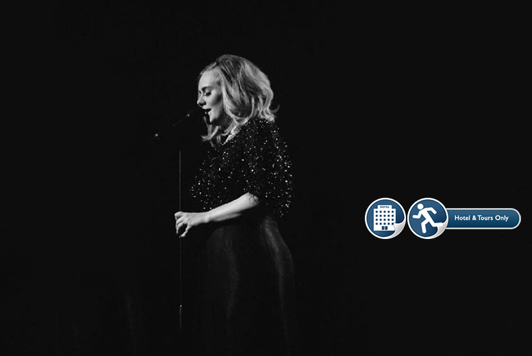 From £249pp (from Tour Center) for a ticket to see Adele including an overnight stay - choose from 41 dates and 16 European cities!