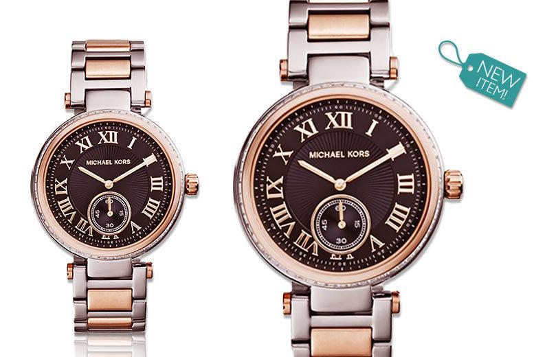 Ladies' Michael Kors Two-Tone Skylar MK5957 Watch