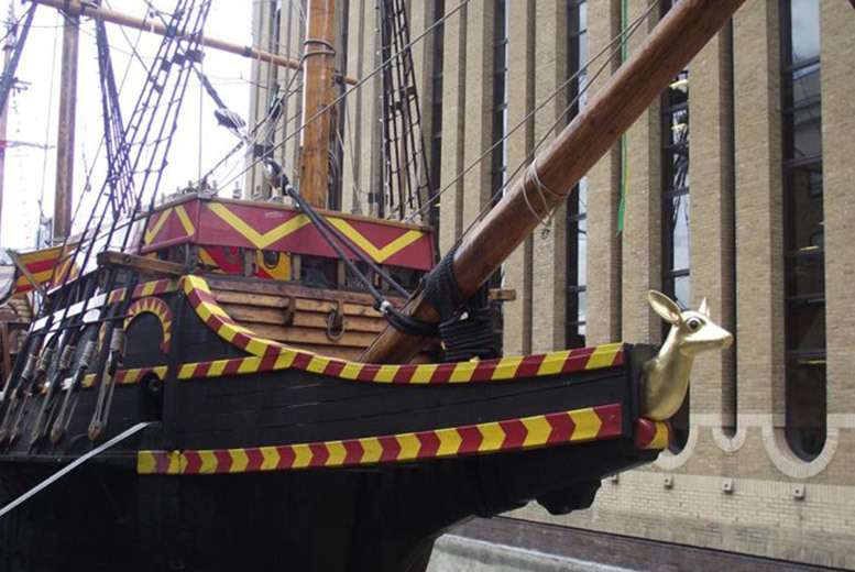 £8 instead of £15 for a guided 'Golden' tour £15 for two people or £30 for four people at the Golden Hinde II, near London Bridge - save up to 47%