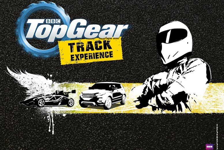 £45 for a BBC Top Gear under-17s off-roading experience, £75 to include a hot lap with Top Gear Track Experience, Guildford