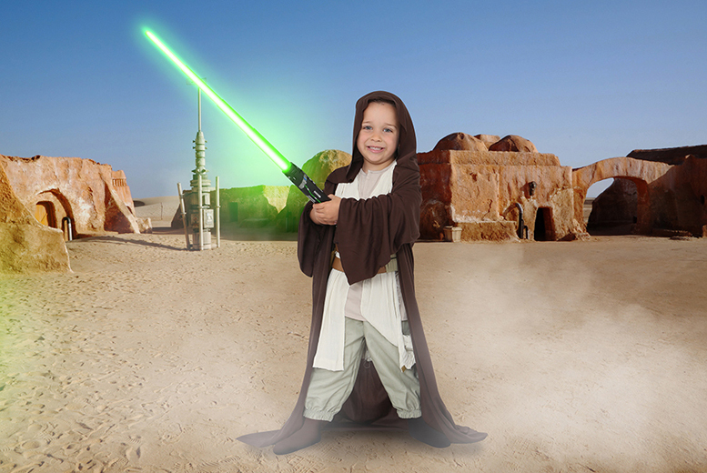 "£9 for a Star Wars or superhero-inspired photoshoot for up to two children including two 7"" x 5"" prints and goody bag each at Andreas Photography - save up to 92%"