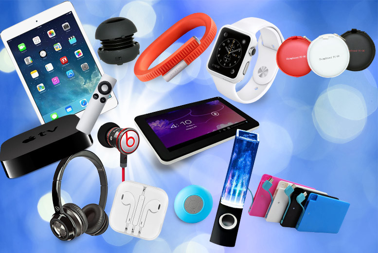 From £10 for a Mystery Electronics Deal - products include Apple watch, Bluetooth speakers, PowerBank, iPad Mini 16GB, Jawbone UP24 activity wristband and more