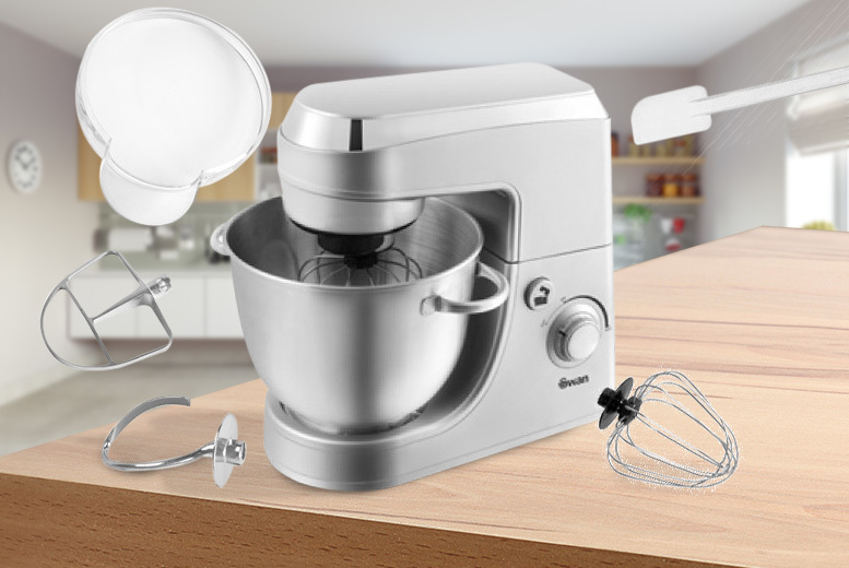 Image of £59.99 instead of £174 (from Swan Products) for a 350W professional silver mixer - save 66%