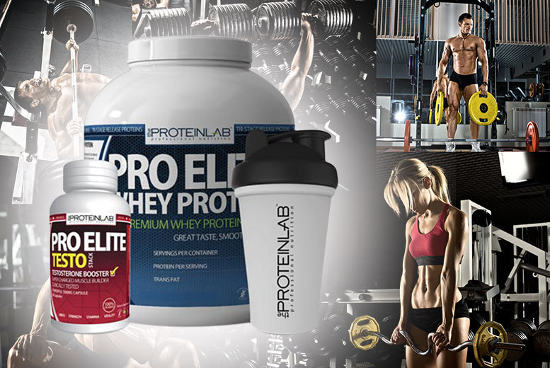 £34 instead of £109.98 (from The Protein Lab) for a 2.25kg of whey protein shake, shaker bottle and 60 testosterone boosters - choose from three flavours and save 69%
