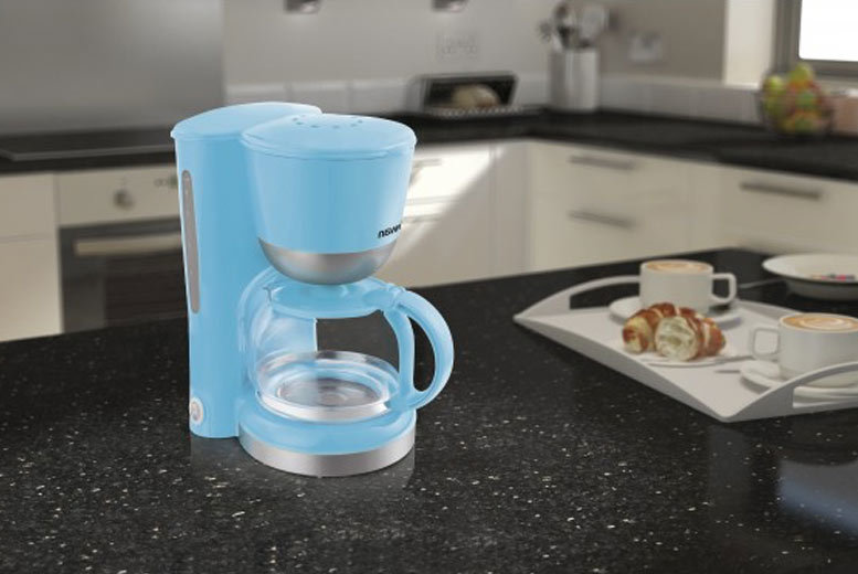 Image of £14.99 instead of £39.99 (from Swan) for a Swan coffee maker - choose either pink or blue and save 63%
