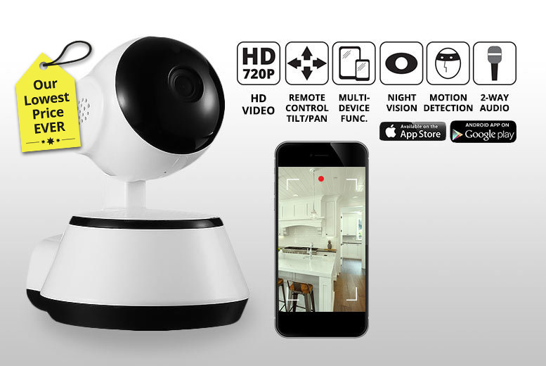 HD Home Security 360° Camera with Motion Detection System! for £19