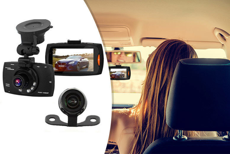 HD Front & Rear Car Dashcam With 16 GB Option from £25