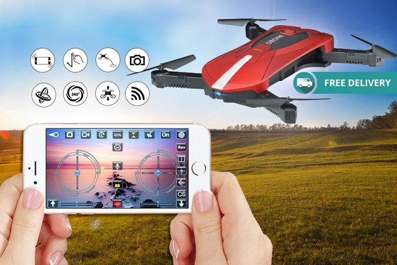 Foldable HD Selfie Drone for £39