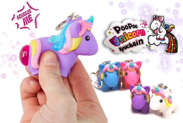 poo poo unicorn pet keyrings