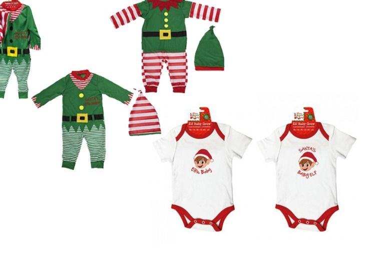 Elves Behaving Badly Baby or toddler Outfits – 2 Choices! from £6.99