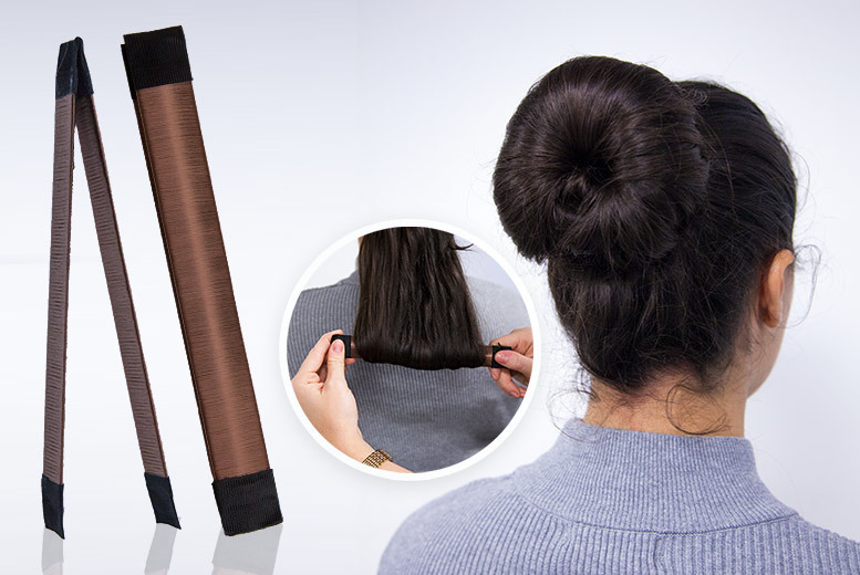 2 or 4 Magic Hair Buns – 2 Colours! from £2.99