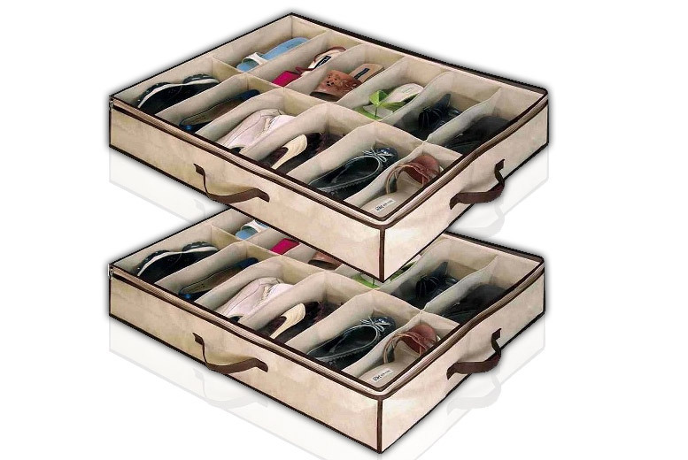 2 Under Bed Shoe Storage Boxes