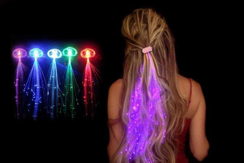 LED Hair Extensions – 5 Colours! for £3.99