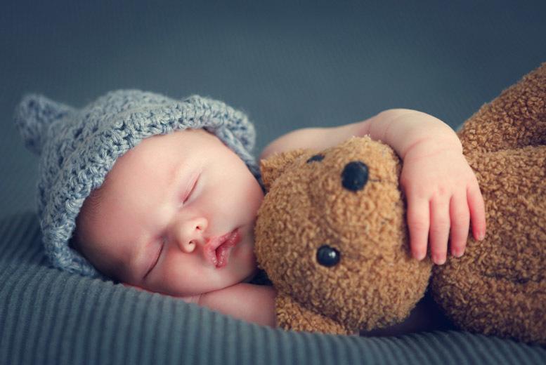 Babies love sleeping with teddy