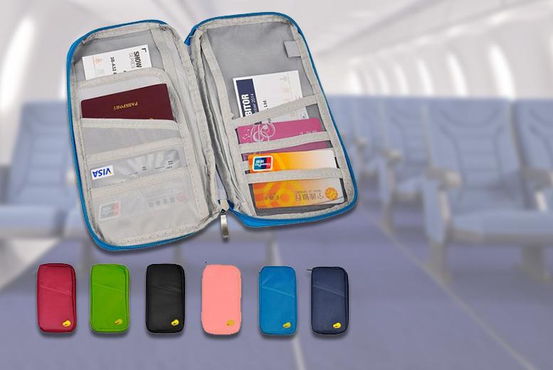 Passport & Travel Document Organiser – 6 Colours! for £2.99