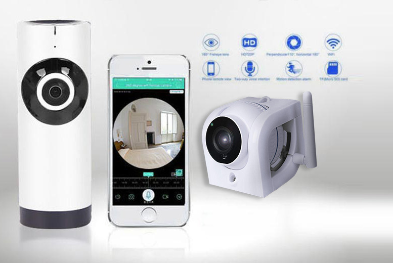 Indoor & Outdoor Home Security Bundle – iOS & Android Compatible! for £59