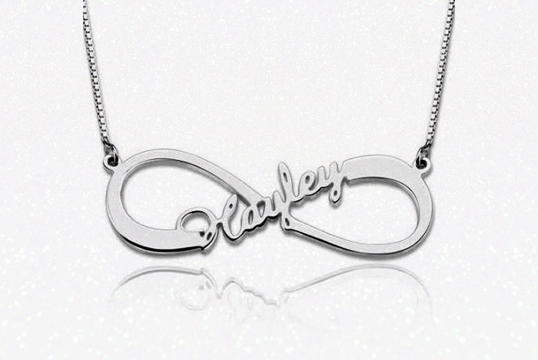 Personalised Sterling Silver Infinity Necklace for £10
