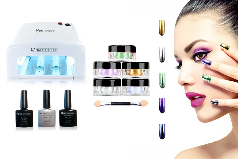 Magic Mirror Five Powder Nail Colour Kit for £35