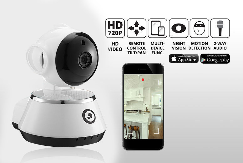 HD Home Security 360° Camera with Motion Sensor & 16GB SD Option! from £19