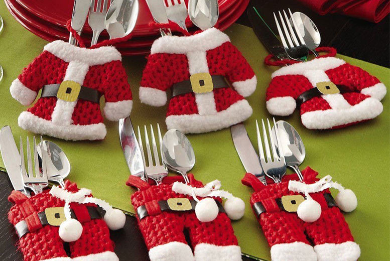 The Best Deal Guide - Santa Claus Cutlery Socks - 4, 8, 12 or 16!