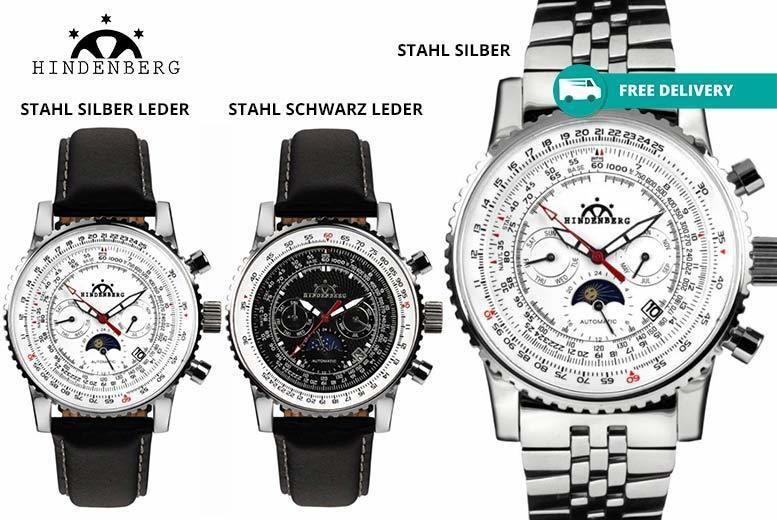 Hindenberg Air Professional Luxury Men's Watch - 7 Designs!