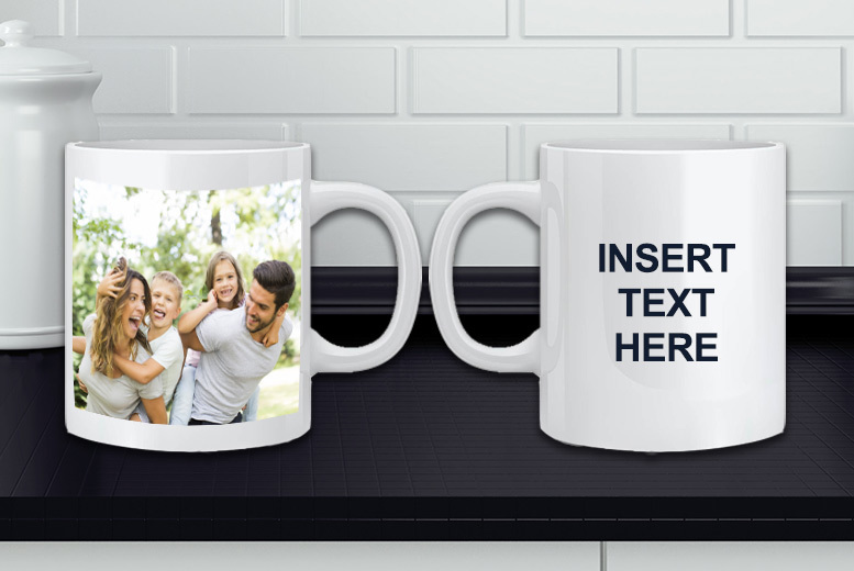 Personalised Photo & Text Mug for £4.99