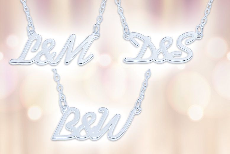Personalised Sterling Silver Initials Necklace for £9