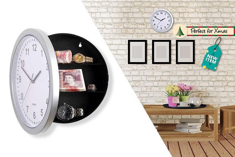 Secret Wall Safe Storage Clock
