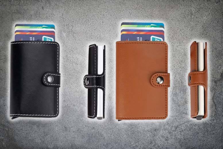RFID-Blocking Credit Card Slider Wallet – 6 Colours for £6.99